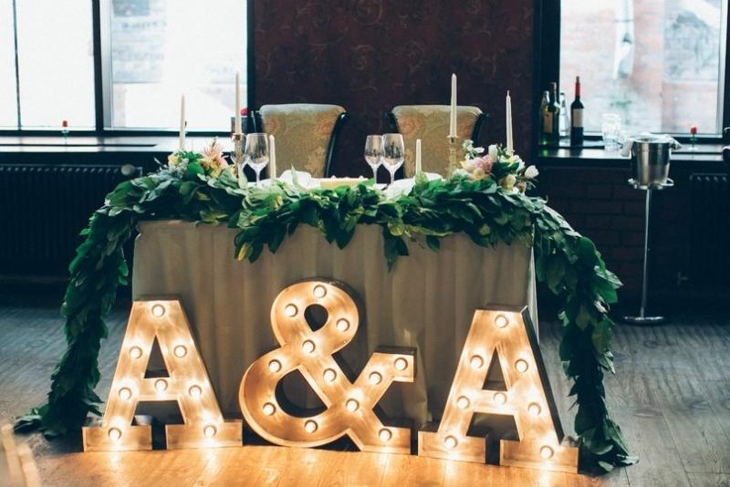 Буквы на стол молодоженов